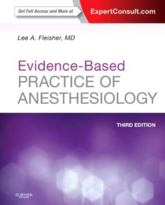 Evidence-Based Practice of Anesthesiology 3rd edition
